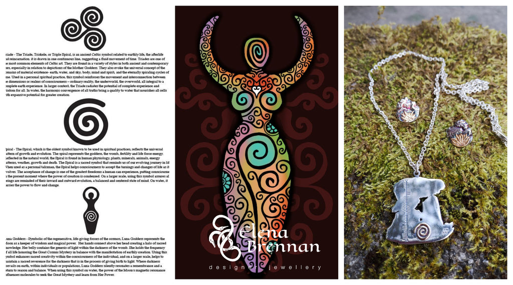 Researching and encoperating spirals into the handmade dolmen pendant as it held special meaning.