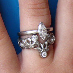 Fitted Wedding and Engagement ring , Bespoke, Elena Brennan Jewellery