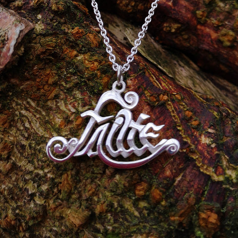 """Welcome"" in Gaelic, sterling silver pendant, Elena Brennan Jewellery"