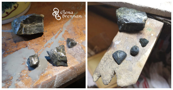 Working with the real Everest Base Stone which would be used for the everest Pendant.
