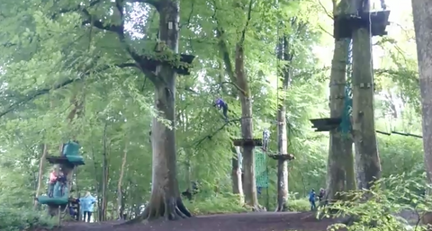 Zipwire at Lough Key Forest Park for a family day out, taking a break from jewelry!