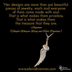 Elena Brennan Jewellery Customer Testimonial on the Angels Whisper Wing + Halo Pendant.