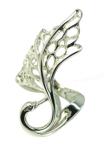 Elegant Swan Ring From Elena Brennan Jewellery's Best Selling Children of Lir Collection.