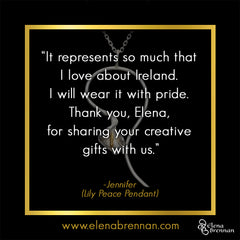 Elena Brennan Jewellery Customer Testimonial on the Lily Peace Pendant.