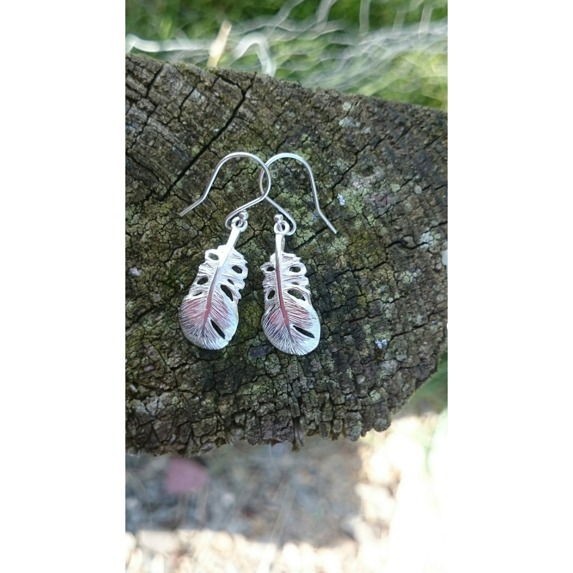 These Baby Angel Feather Drop Earrings are a special gift from the Angels.