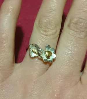 Fire of Freedom 1916 Lily Ring worn on finger.