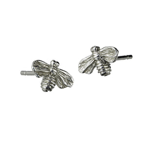 Bee Stud Earrings handcrafted from Sterling Silver by Irish Jewellery Designer Elena Brennan.