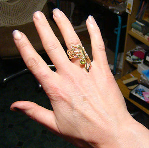Butterfly Wing Gossamer Ring is available in both Sterling Silver and Gold.