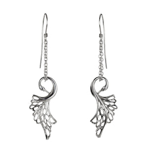 Swan Drop Earrings made from Sterling Silver. The perfect Irish gift for a jewelry loving girl!