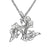 Children of Lir Three Swan Sterling Silver Pendant detail.