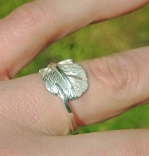 "Baby Angel Feather Ring - ""Cherish"""