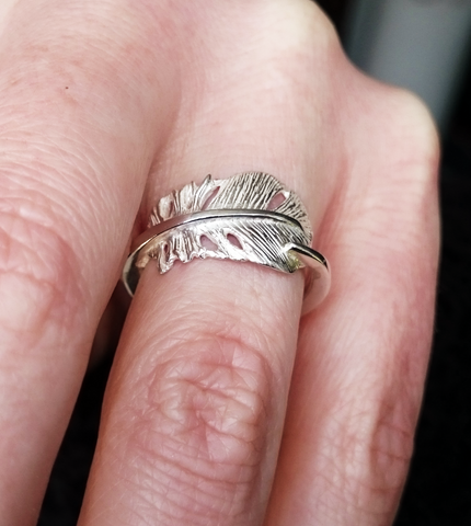 Cherish Ring made by Elena Brennan with sliver sterling in Cavan, Ireland