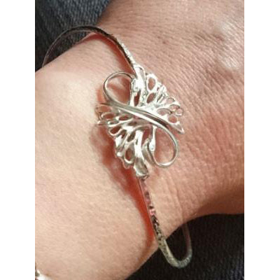 Children of Lir Forever Swan Sterling Silver Bangle. Bespoke Jewellery Handmade in Ireland. Elena Brennan Jewelry.