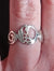 Disc Swan Ring worn on finger, part of the Children of Lir Jewelry Collection, a perfect occasion gift!