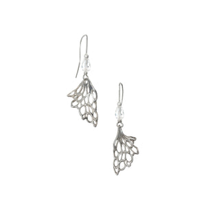 Gossamer Wave Drop Earrings handcrafted from Sterling Silver with matching items available.
