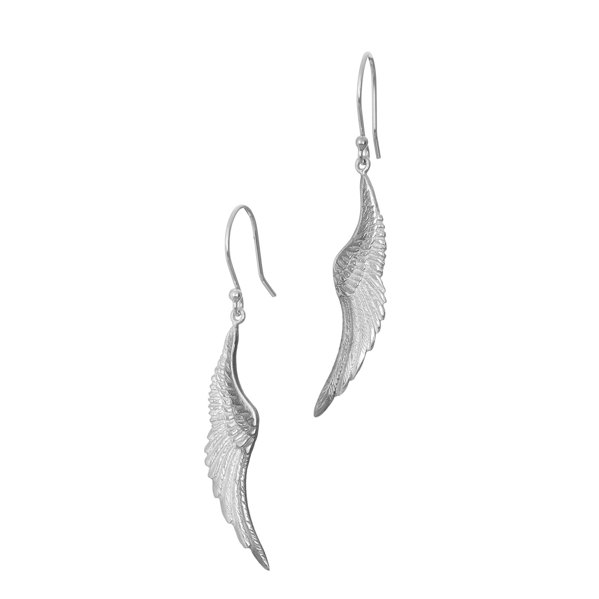 Angels Whisper Drop Earrings made in Ireland by Elena Brennan Jewellery with Sterling Silver.