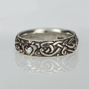 Celtic wedding ring, claddagh wedding ring, elena brennan jewellery