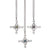 Swan Cross Pendant. Sterling Silver chains with gemstone detail and variation.