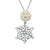 Celtic Snowflake Pendant handcrafted from Sterling Silver, complete with a Freshwater Pearl Snowball.