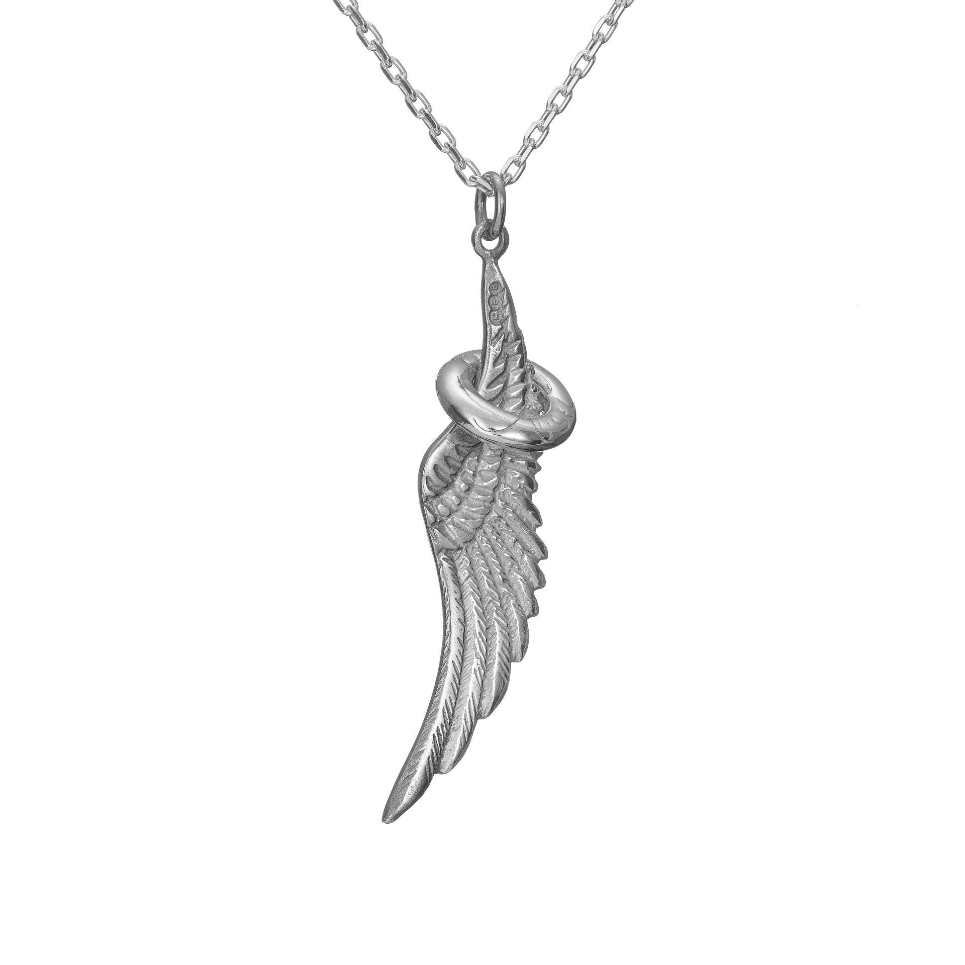 Sterling Silver Angel Halo & Wing Pendant, a perfect, meaningful jewelry gift for that someone special!