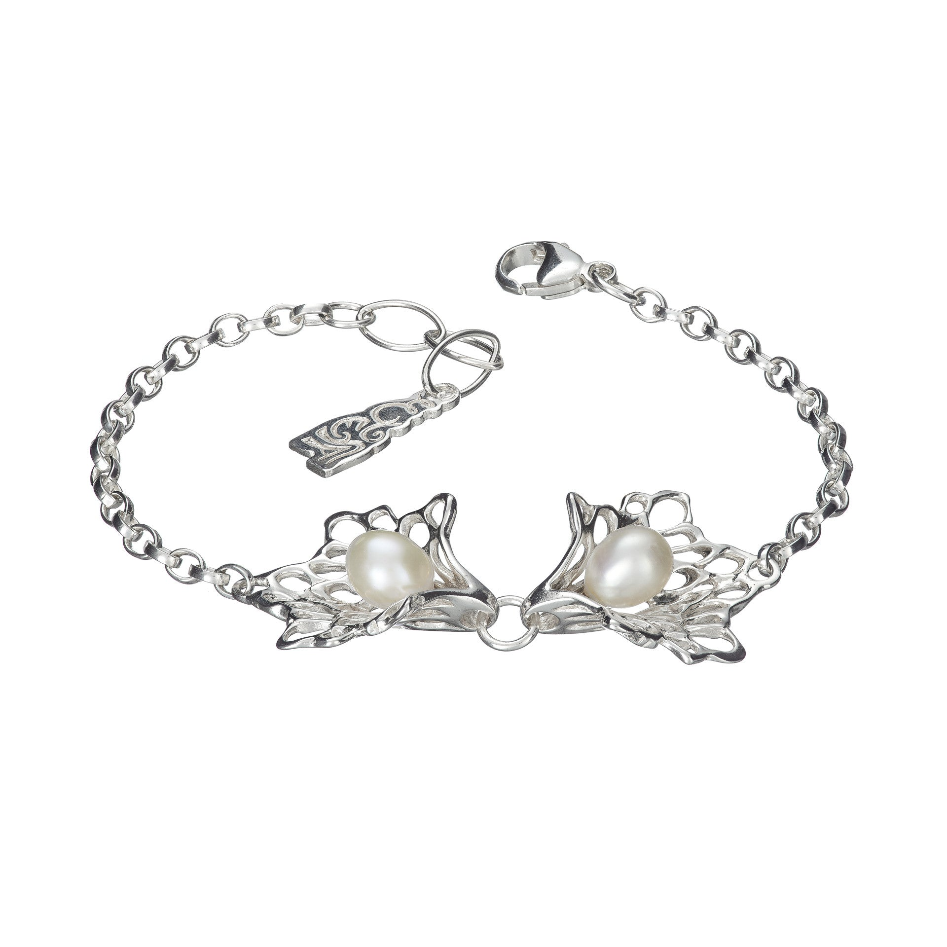 Petals & Pearls Gossamer Bracelet handcrafted from Sterling Silver by Elena.