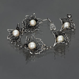 Petals & Pearls Gossamer Bracelet with the Twilight finish, the perfect heirloom.