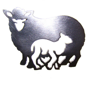 Mother & Lamb Brooch