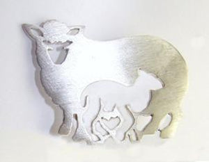 Mother and Lamb Pendant