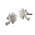 Sterling Silver Shamrock Stud Earrings, Irish jewellery handcrafted by Elena Brennan.