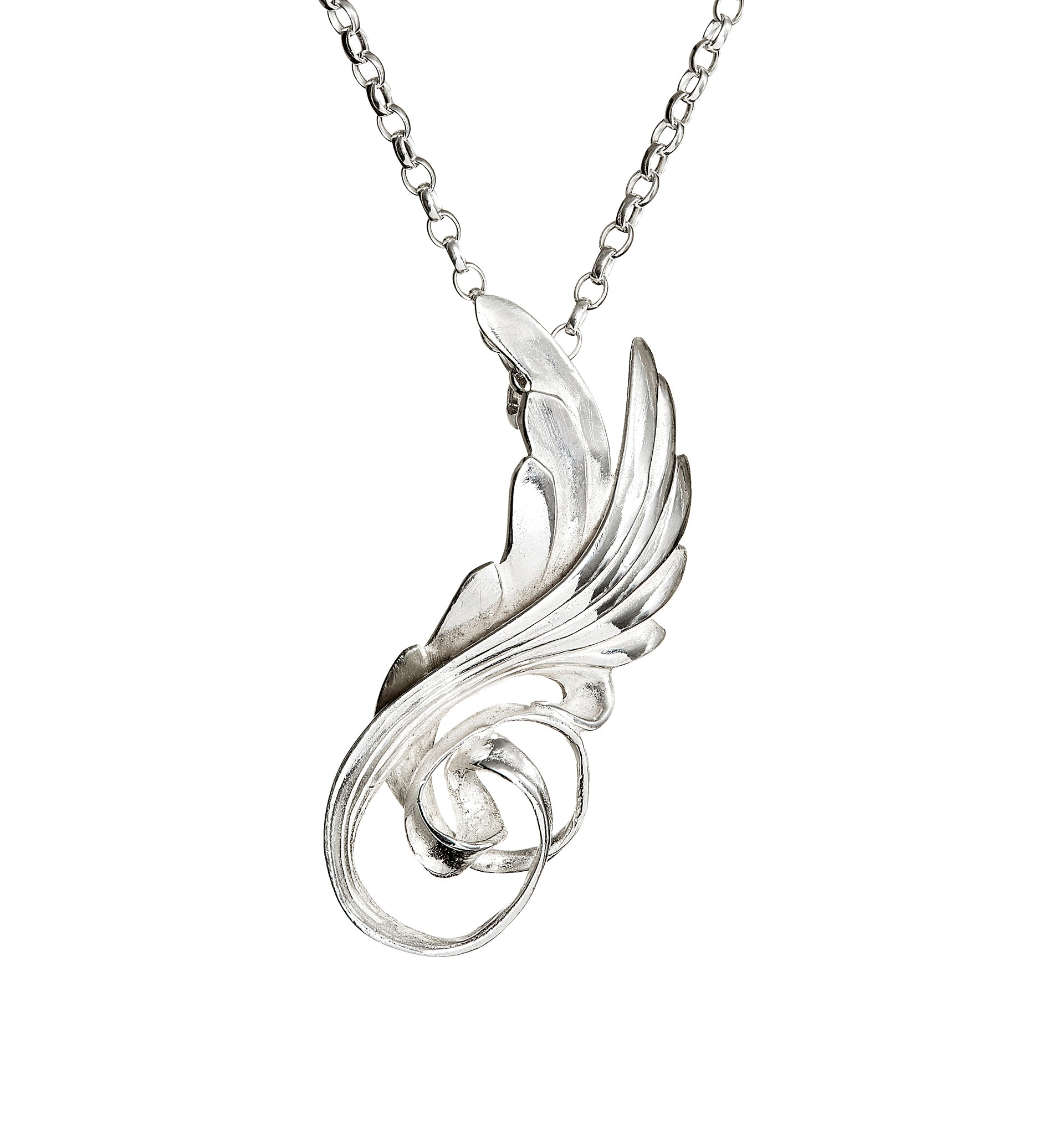 wing silver fine angel inch with chain sterling necklace angelwing product