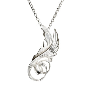 Sterling Silver Celtic Angel Wing Pendant and chain is made in Ireland. A unique and special gift for a loved one!