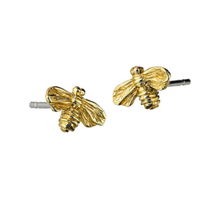 Bee Stud Earrings handcrafted from 9ct Gold by Irish Jewellery Designer Elena Brennan.