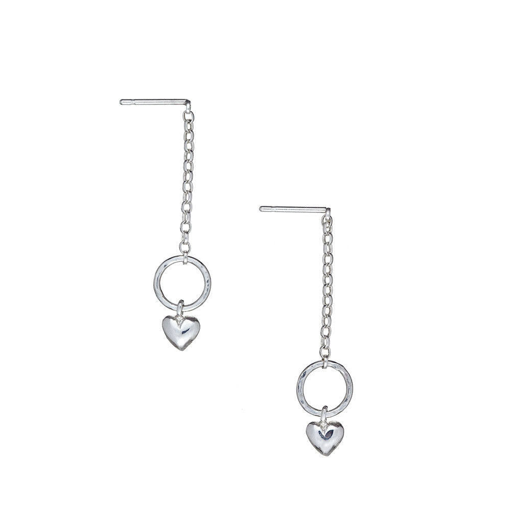 Love Eternal Drop Earrings handcrafted from Sterling Silver, matching jewellery available.