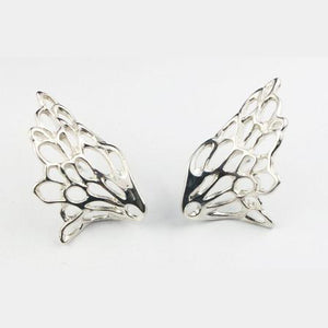 Gossamer Wave Earrings handcrafted from Sterling Silver by Elena Brennan Jewellery.