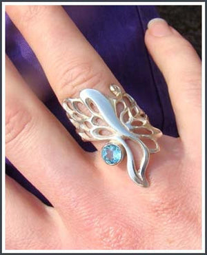 Topaz Butterfly Wing Gossamer Ring is gorgeous when worn.