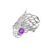 Ethereal Gossamer Ring with a 6mm Amethyst Gemstone setting.