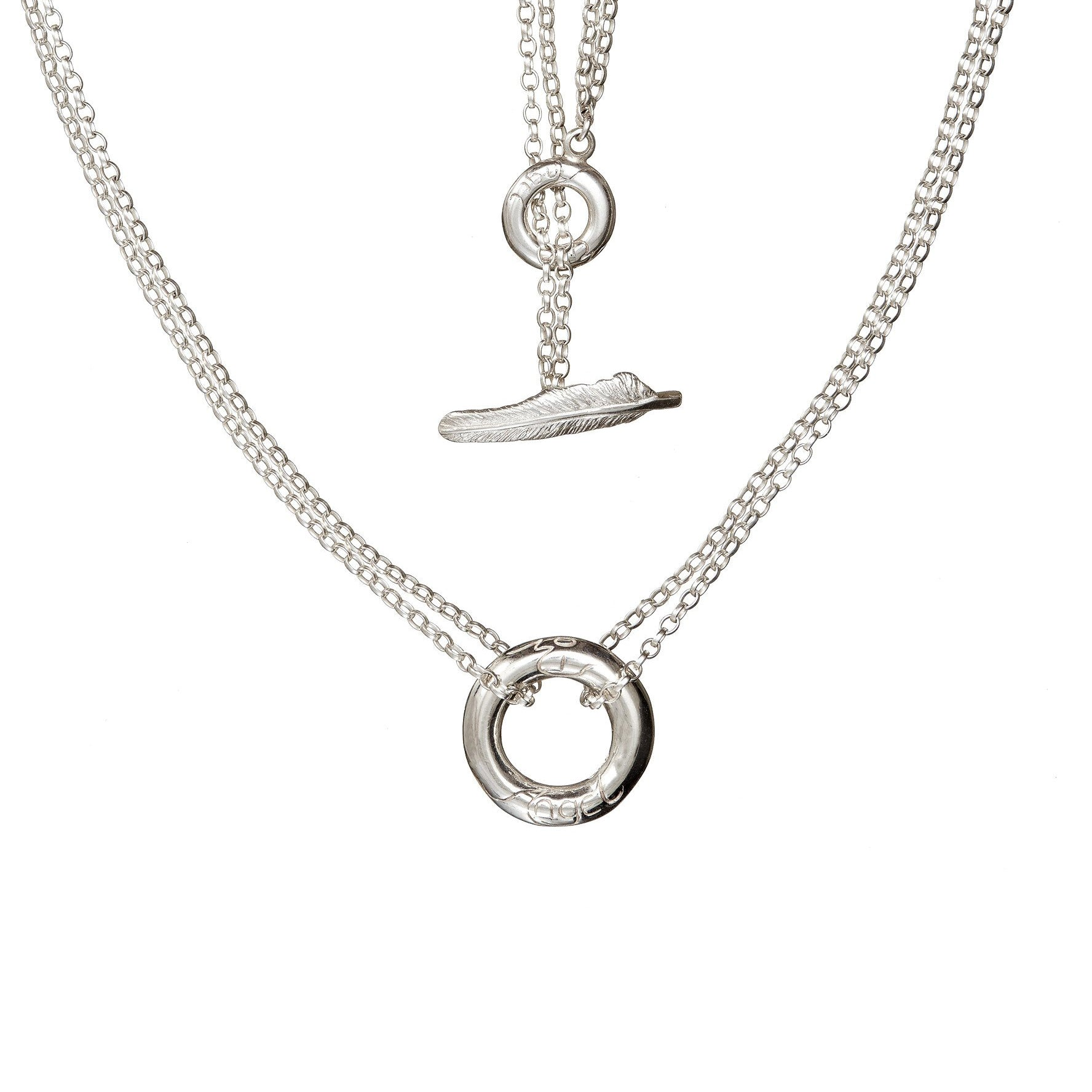 Elena's Embrace of the Angels Necklet, handcrafted from sterling silver, it is a special gift from the Angels.