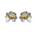 Love of Ireland-Grá na hÉireann Stud Earrings <br> 14ct Gold Heart