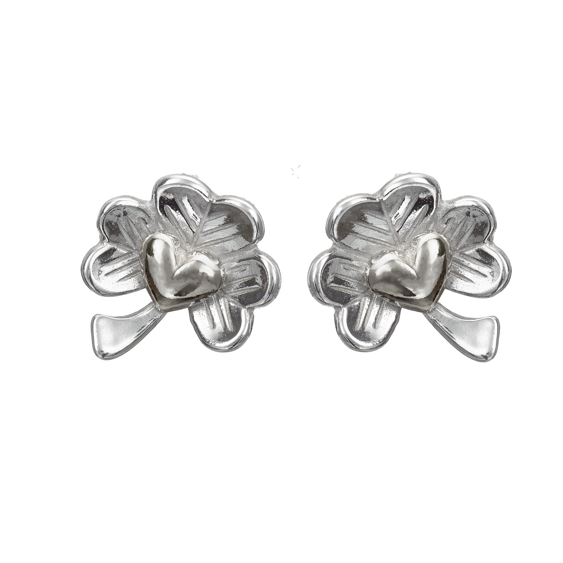 Love of Ireland Stud Earrings, Irish Design handcrafted from Sterling Silver