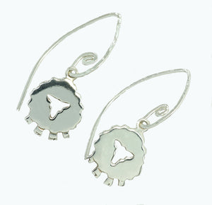 Handcrafted Irish Sheep Drop Earrings the perfect gift for animal lovers.