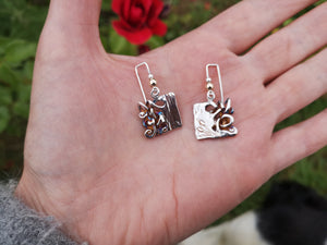 Bog Book Small Page Drop Earrings