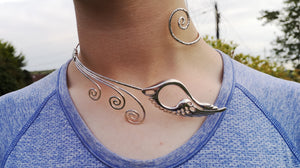 Sterling Silver children of Lir Torc Neck piece