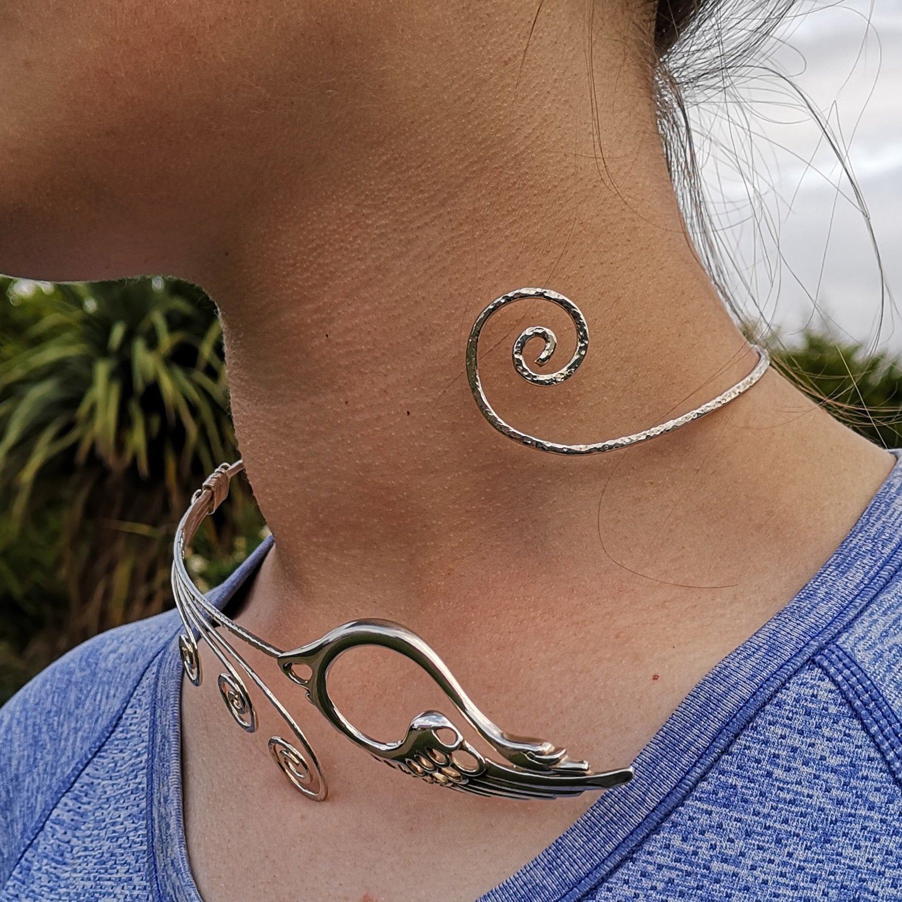 Sterling Silver Torc Necklet, made in Ireland
