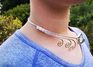 Sterling Silver, designer Irish, children of Lir Torc Necklet