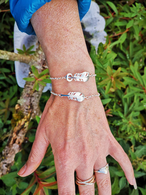 """Cherish "" Baby Angel Feather Bracelet"