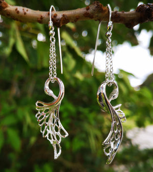 Children of Lir Swan Drop Earrings