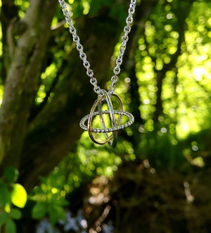 The Cúrsa an tSaoil Circles of Life pendant is handcrafted by Elena Brennan Jewellery.