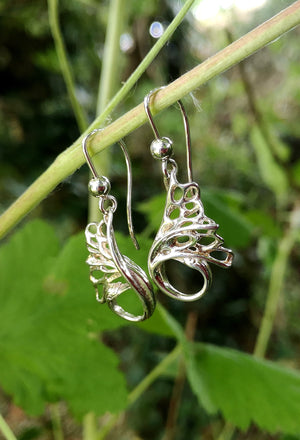 These handmade Swan Drop Earrings are part of Elena Brennan Jewellery's Children of Lir Collection.