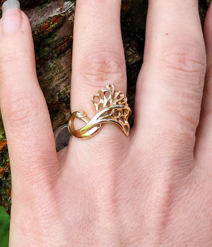 14ct Gold Graceful Children Of Lir Ring
