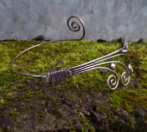 Children Of Lir Beaten Silver Torc